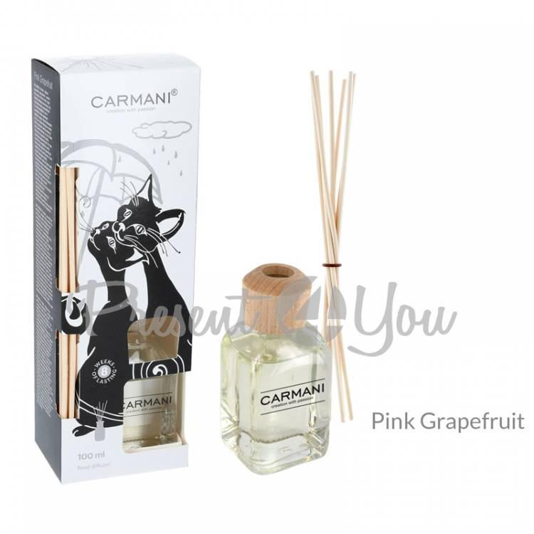 Аромадифузор «Черно-белые коты», розовый грейпфрут, Carmani, 100 мл