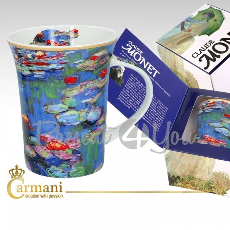 Кружка фарфоровая Клод Моне «Водяные лилии» Carmani, 350 мл
