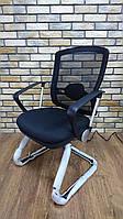 Marrit GT07-6B конференц-кресло для посетителей, на полозьях, от GTCHAIR, черное