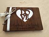 Фотоальбом з дерев'яна яними обкладинками, фото 2