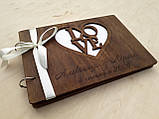 Фотоальбом з дерев'яна яними обкладинками, фото 6