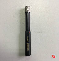 Алмазне свердло для сухого свердління з воском, д. 8,0х82,0 мм, хвостовик 8 мм