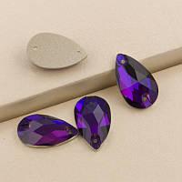 Стрази пришивні Копія Сваровскі, Крапля 11х18 мм Purple Velvet, скло, фото 1