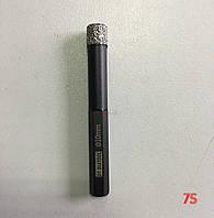 Алмазне свердло для сухого свердління з воском, д. 10,0х82,0 мм, хвостовик 8 мм