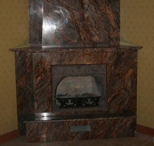Облицовка каминов мрамором и гранитом.Изготовление и монтаж каминов из мрамора.