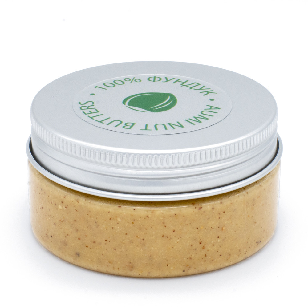 100% фундучная паста 80г, фундуковая натуральная паста из лесного ореха, без добавок