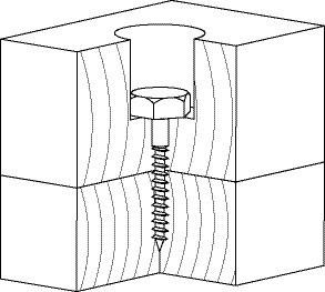 Шуруп для соединения деревянных лаг и реек DIN 571 5х45 (300 шт/уп) - фото 3