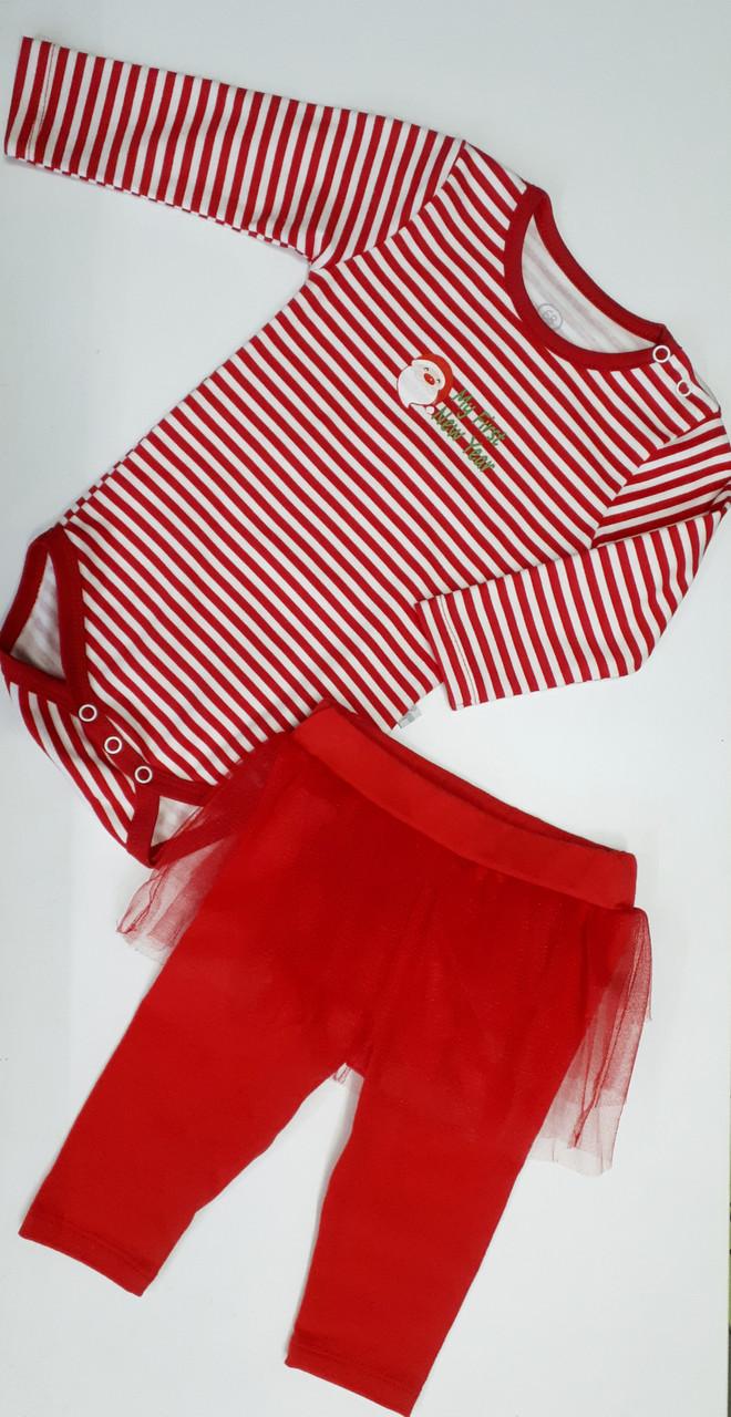 Комплект боди и штанишки  для девочки ТМ Фламинго (Украина) размер 80