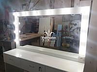 Визажный стол с огромным зеркалом. Модель А162 белый, фото 1