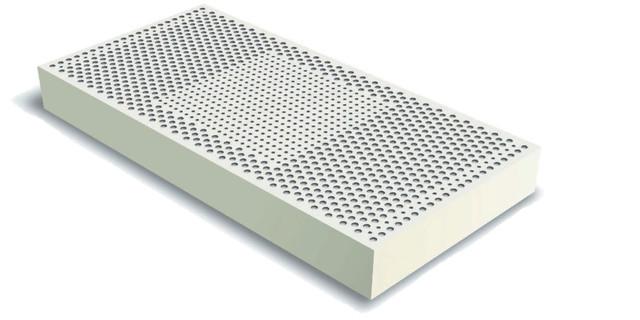 Высота 10 см, латекс для матраса, латексный блок для матраса, 3 зоны жесткости.
