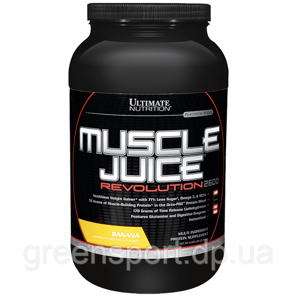 Гейнер Ultimate Muscle Juice Revolution 2600 (2,12 кг) Банан