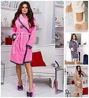 Женский домашний набор халат с тапочками 17500, фото 1
