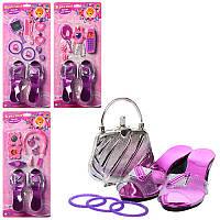 Аксесуари A 038-041 черевички, телефон, гребінець, кольє, заколки, лист, 3 види, 47,5-21,5-5см