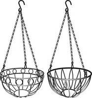 Підвісне кашпо, діаметр 25,4 см, висота з ланцюгом та крюком 53,5см// PALISAD