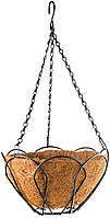 Підвісне кашпо, 25 см, з кокосовою корзиною// PALISAD