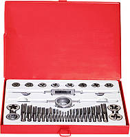 Набір мітчиків і плашок М3 - М16, 36 предм.// MTX MASTER