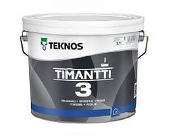 Краска для влажных помещений TEKNOS TIMANTTI 3 антисептическая 2,7 л