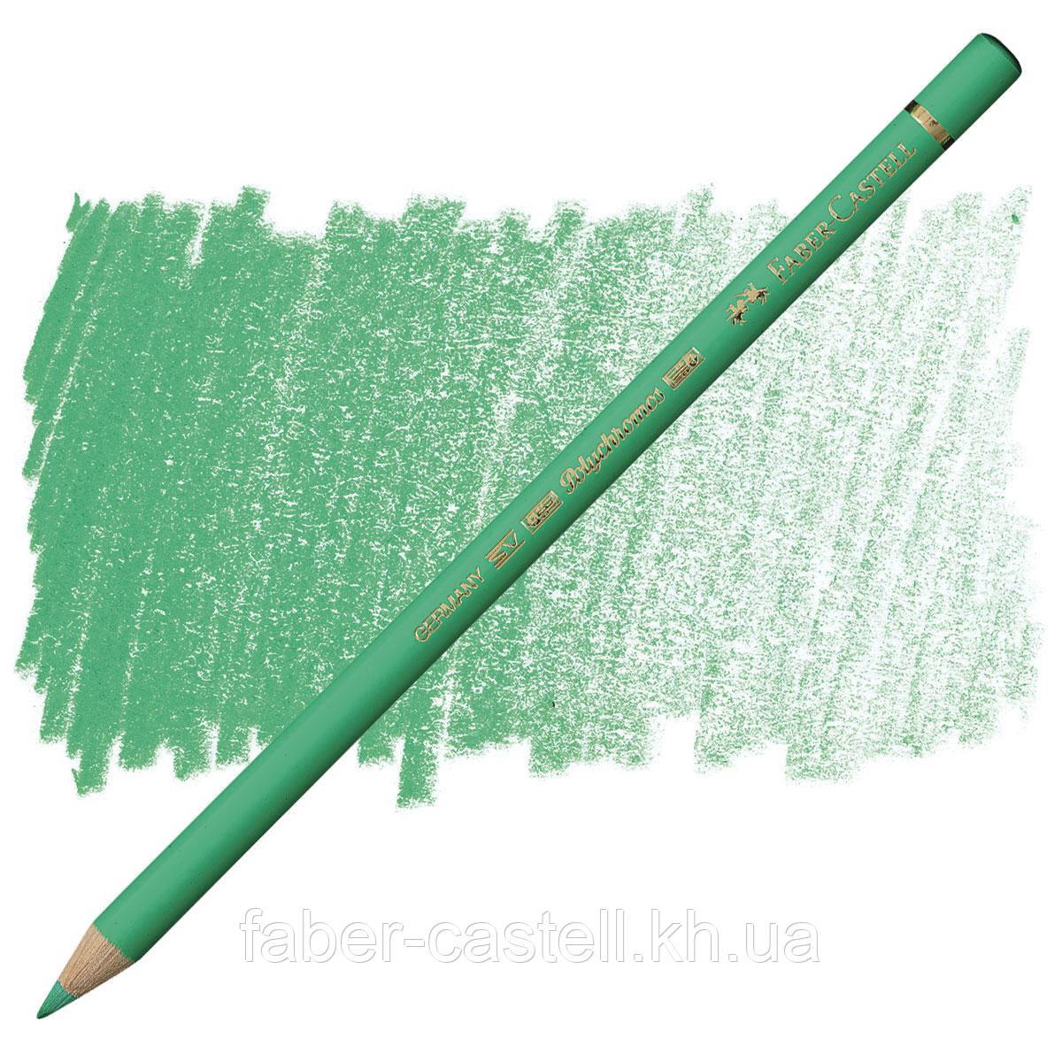 Карандаш цветной Faber-Castell POLYCHROMOS светло-бирюзовая зелень №162 (Light Phthalo Green), 110162
