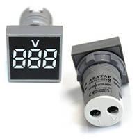 Вольтметр врезной AD101-22VM LED AC20-500V белый ST 880W, фото 1