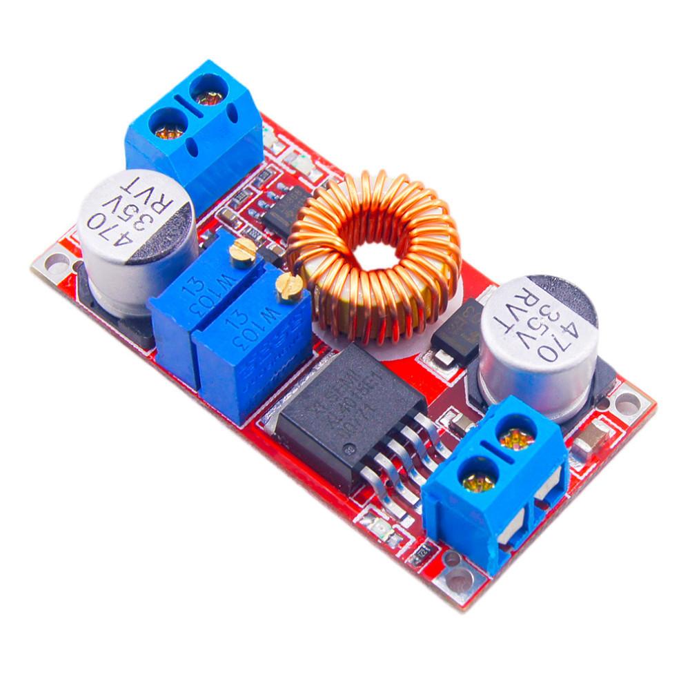 Регулируемый преобразователь напряжения и тока XL4005 XL4005E1 5A CC/CV/LED контроллер заряда акб
