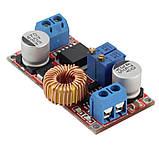 Регулируемый преобразователь напряжения и тока XL4005 XL4005E1 5A CC/CV/LED контроллер заряда акб, фото 4