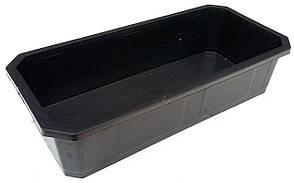 Поддон для рассады малый высокий (38×18×9 см) пластиковый. Лоток для рассады (Горизонт)