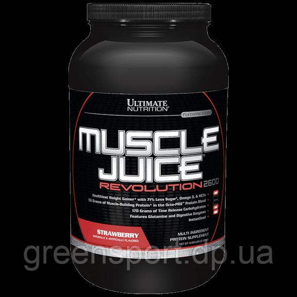 Гейнер Ultimate Muscle Juice Revolution 2600 (2,12 кг) Клубника