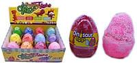 Масса для лепки 5030-1 супер лёгкая прыгающая шариковая в яйце 9cм 12цветов уп12
