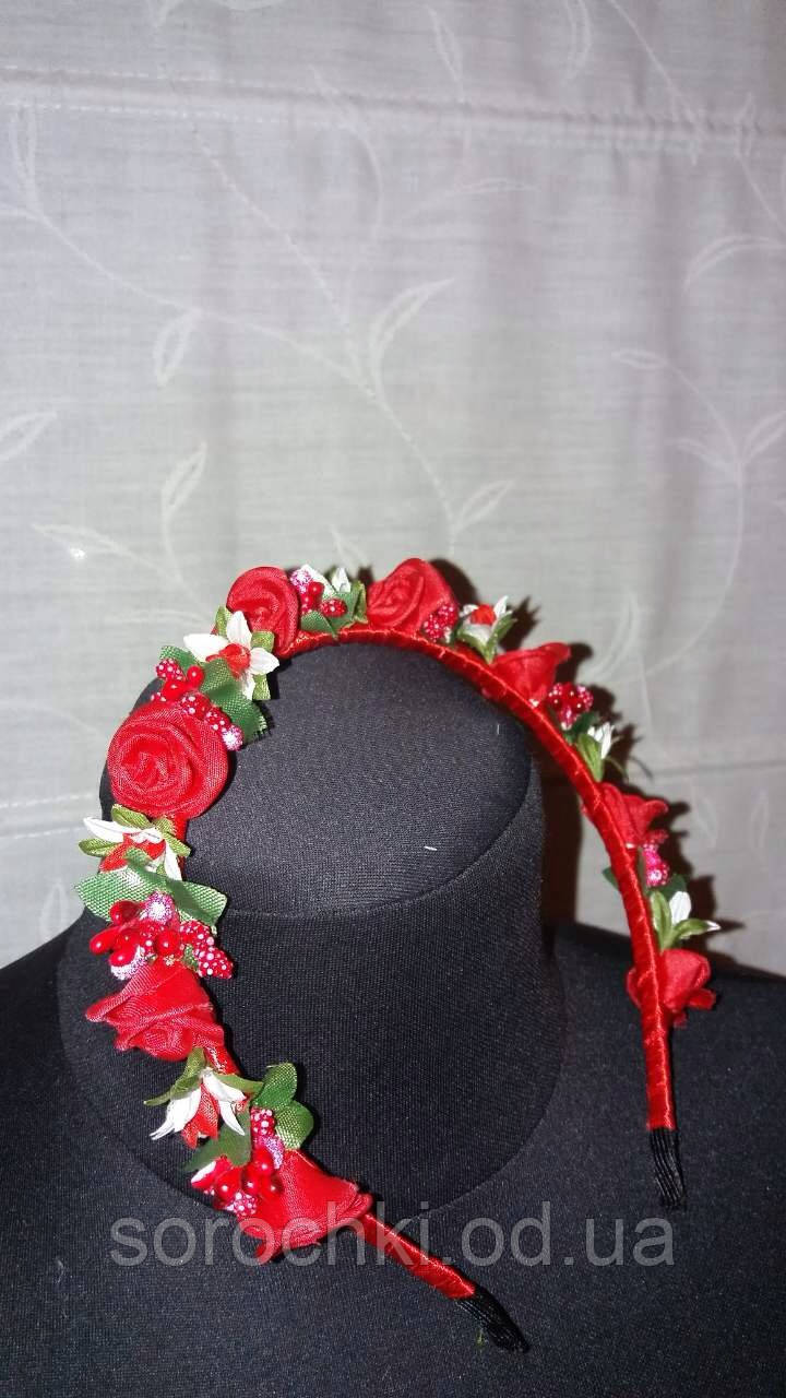 Обруч для волос , одноярусный , цветы