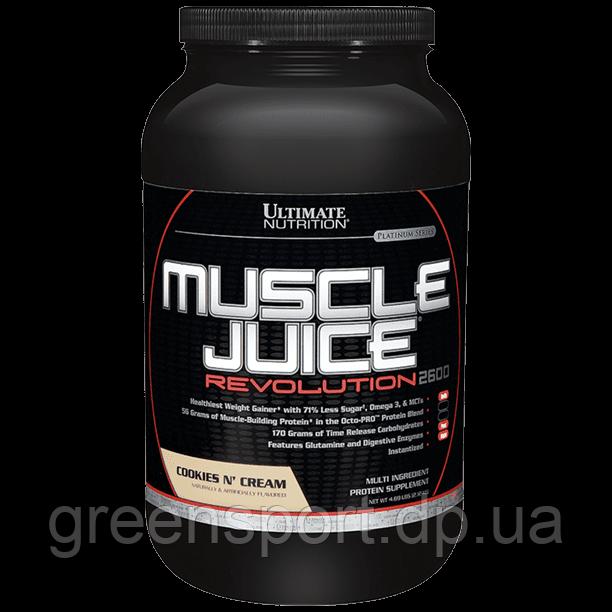 Гейнер Ultimate Muscle Juice Revolution 2600 (2,12 кг) Печенье со сливками