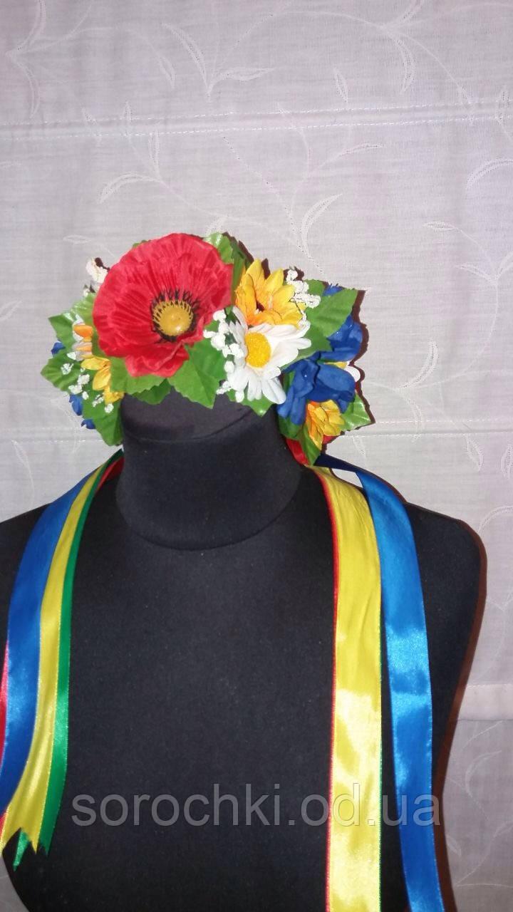 Веночки для волос , цветы  ,большие