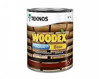 Грунтовка антисептическая TEKNOS WOODEX AQUA BASE для древесины 1 л