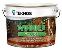 Масло органоразбавляемое TEKNOS WOODEX WOOD OIL для древесины 9 л