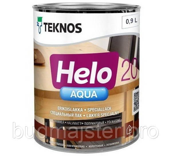 Лак Teknos Хело Аква 20 півматовий, 0,9 л