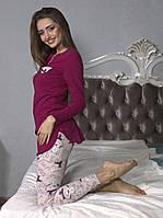 Женская пижама с туникой и лосинами