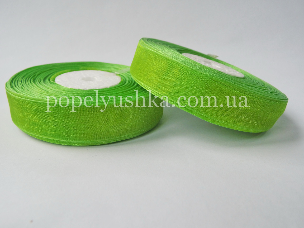Органза 2 см оливкова