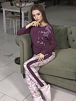 Трикотажная женская пижама энигма