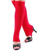 Гетры короткие  (40 см) для танцев Rivage Line сатин, красный