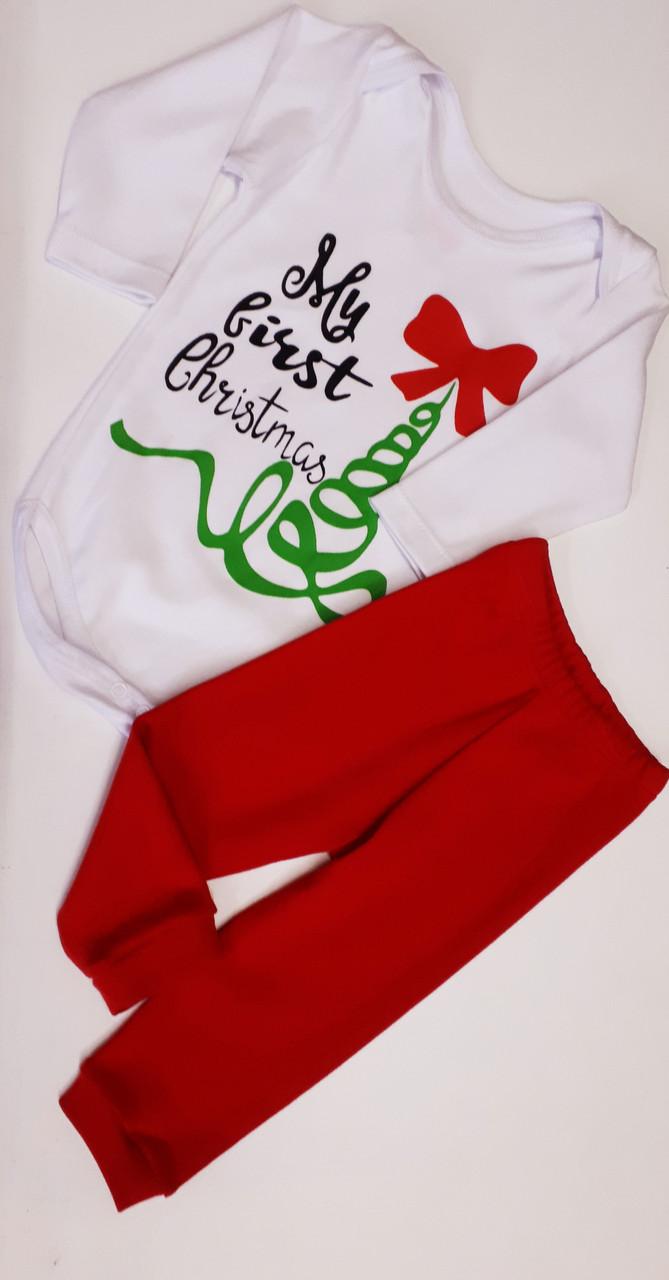 Комплект боди и штанишки  для девочки Украина размер 74