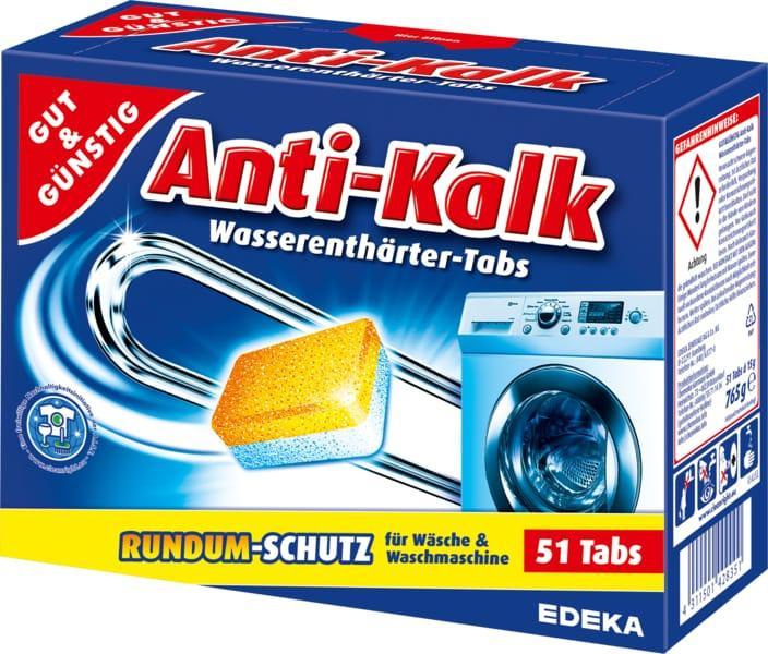 Таблетки против накипи для стиральной машины Gut & Gunstig Anti Kalk  51шт