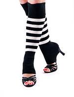 Гетры короткие  (40 см) для танцев Rivage Line сатин, черные с красным