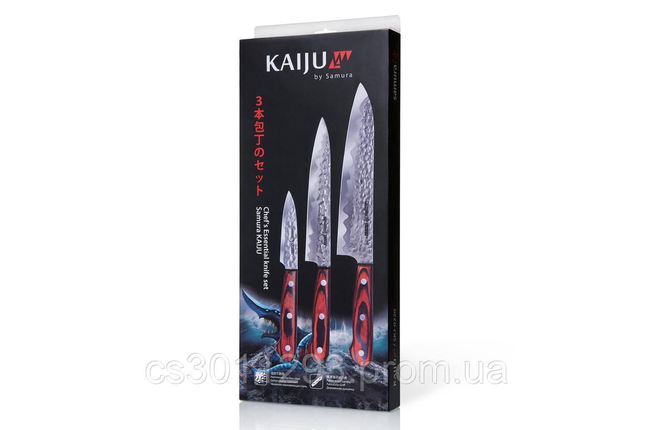 Набір з 3 кухонних ножів Кухарська трійка Samura KAIJU (SKJ-0220)