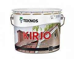 """Эмаль алкидная TEKNOS KIRJO для крыш и листового металла """"белая"""" (тонируется) 2,7 л"""
