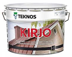 """Эмаль алкидная TEKNOS KIRJO для крыш и листового металла """"белая"""" (тонируется) 9 л"""