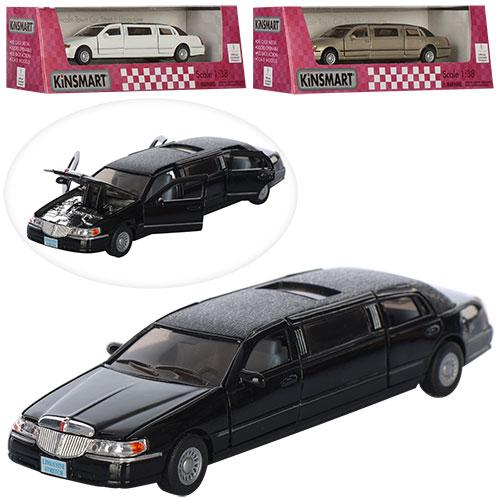 Машинка KT 7001 W (12шт) металл, инер-я, 17см, 1:38,рез.колеса,отк.двери,3цв,в кор-ке, 23-7,5-7,5см