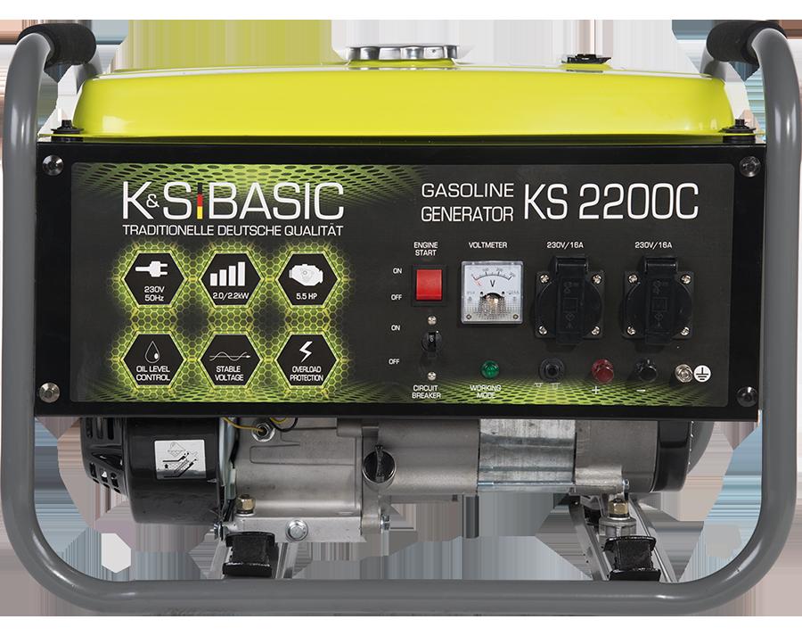 Генератор бензиновый K&S Basic KS 2200С (2,2кВт)