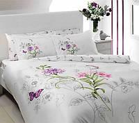 TAC Семейный комплект постельного белья delux saten Nicole lilac