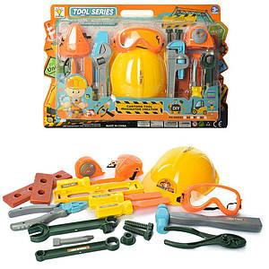 Набор инструментов 2045B1-B2 (18шт) каска,очки,маска, отвертка,гаеч.ключ,2вида,на листе,33,5-48-8см