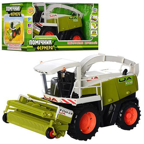 Комбайн M 0344 U/R (12шт) Помощник фермера,инер-й, 33см, подвижные детали,  в кор-ке, 34-18-19см