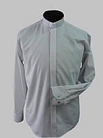Рубашка для священников  светло-серого цвета с длинным рукавом